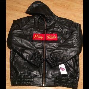 Earlybirds leather hoodie